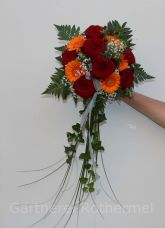 Orange-roter Brautstrauss
